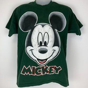 Vintage 90s Mickey Mouse Big Face Large Shirt